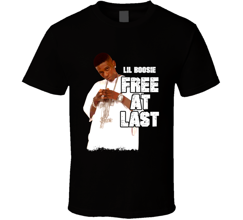 Lil Boosie Free At Last Grunge Font T Shirt