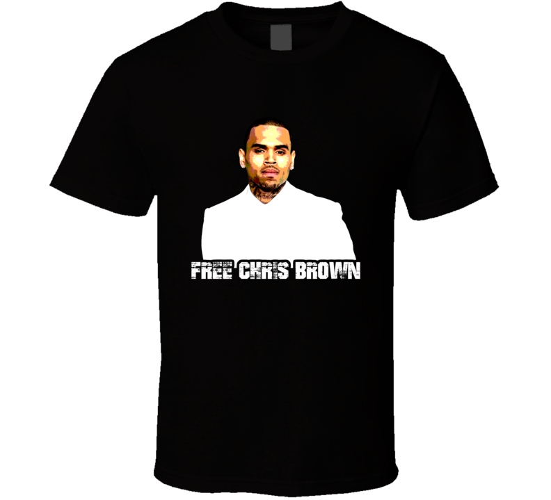 Free Chris Brown Arrested T Shirt