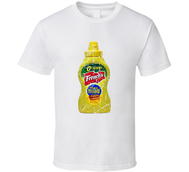 French's Mustard Distressed Look T Shirt