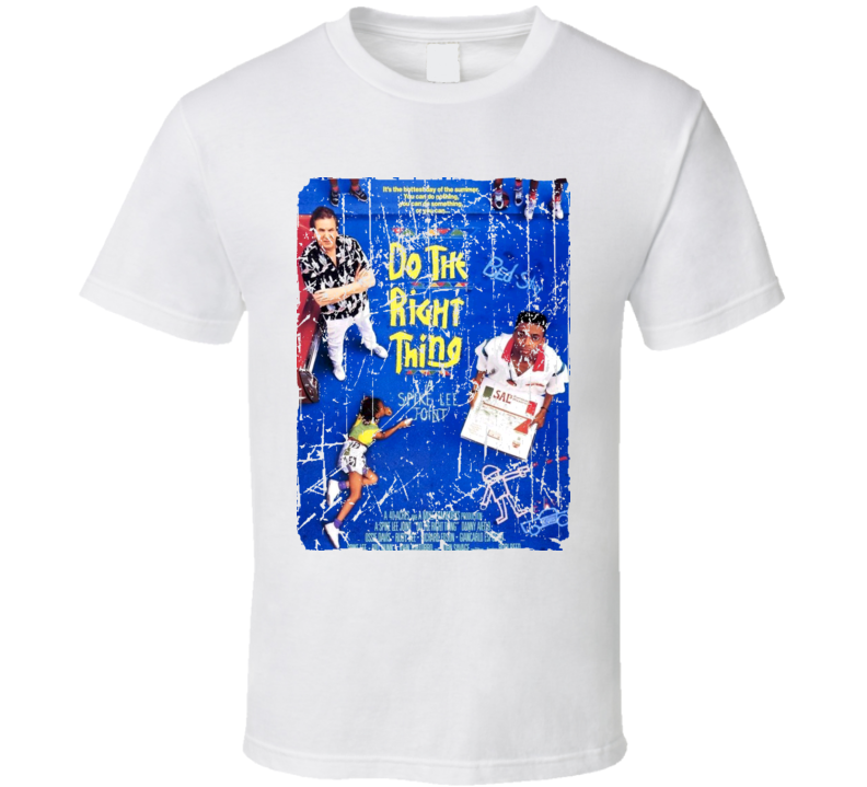 Do The Right Thing Movie Poster Retro Aged Look T Shirt