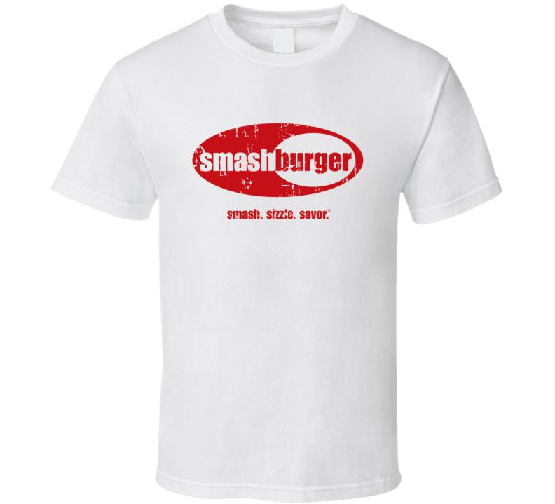 Smashburger Fast Food Restaurant Distressed Look T Shirt