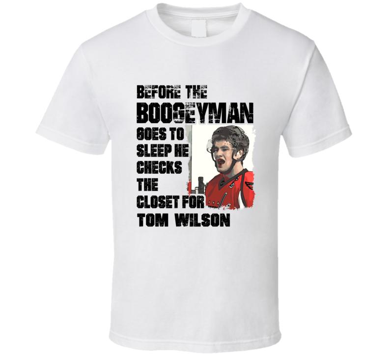 Tom Wilson Washington Hockey Boogeyman Tough Guy T Shirt