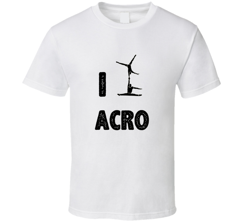 I Heart Love Acro Stylish Graphic Sport T Shirt