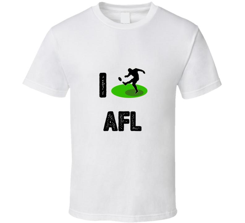 I Heart Love Afl  Stylish Graphic Sport T Shirt