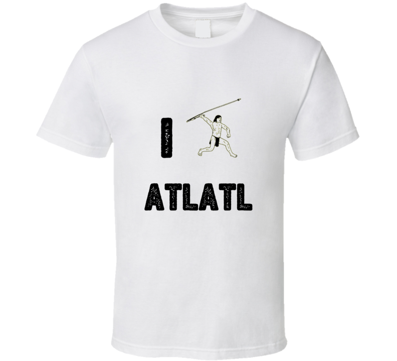 I Heart Love Atlatl Stylish Graphic Sport T Shirt
