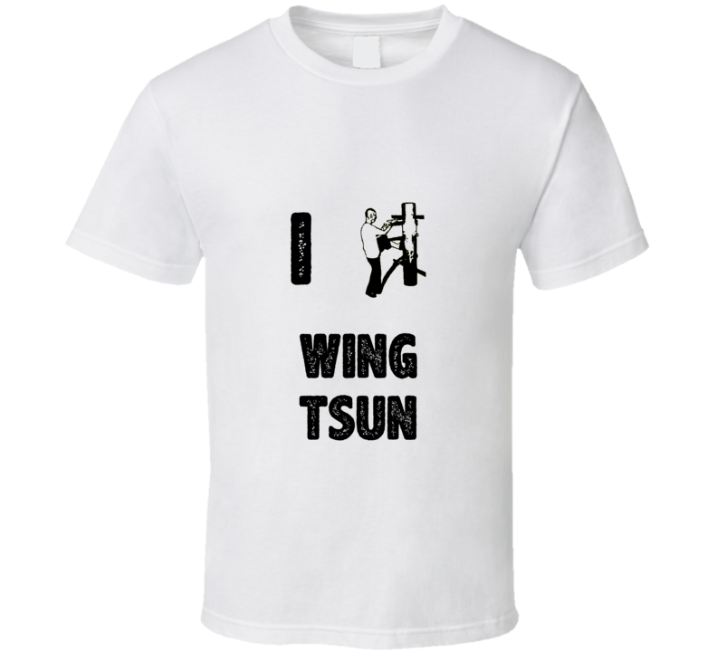 I Heart Love Wing Tsun Stylish Graphic Sport T Shirt