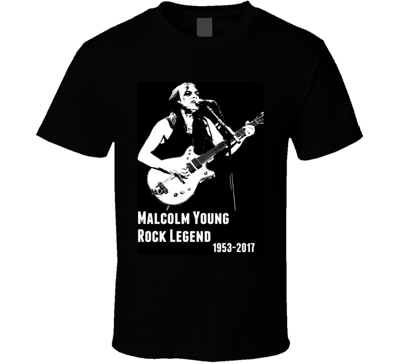 Malcolm Young Rock Legend Memorial T Shirt