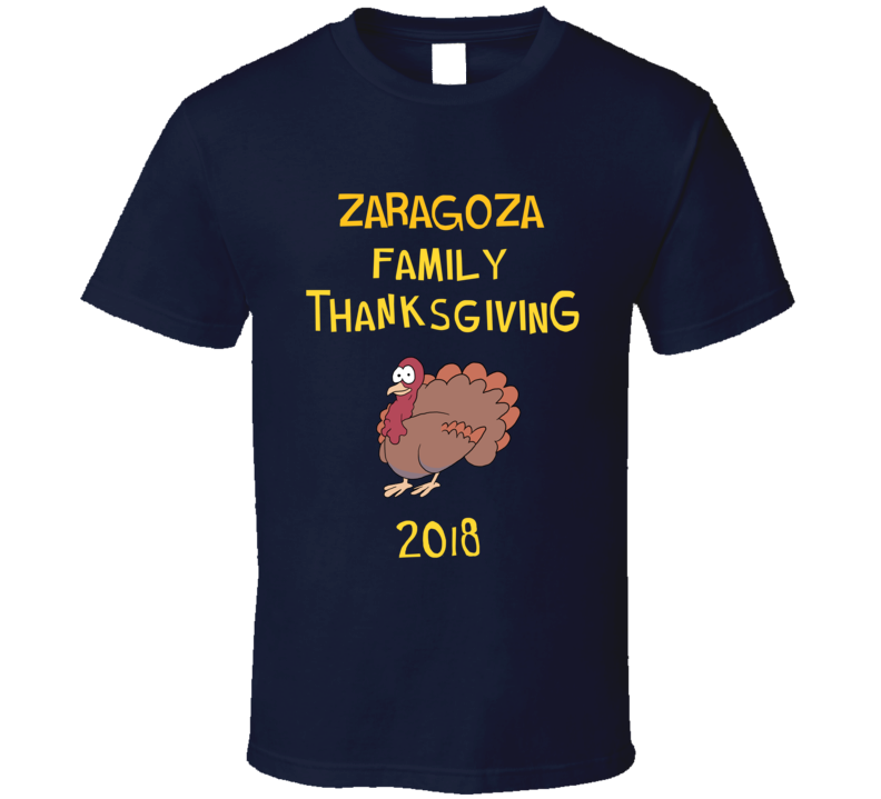 Zaragoza Family Thanksgiving 2018 Funny Brooklyn Nine Nine Inspired Fan Tv T Shirt