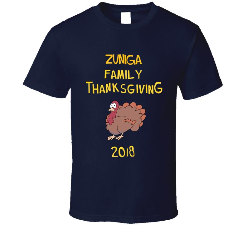 Zuniga Family Thanksgiving 2018 Funny Brooklyn Nine Nine Inspired Fan Tv T Shirt