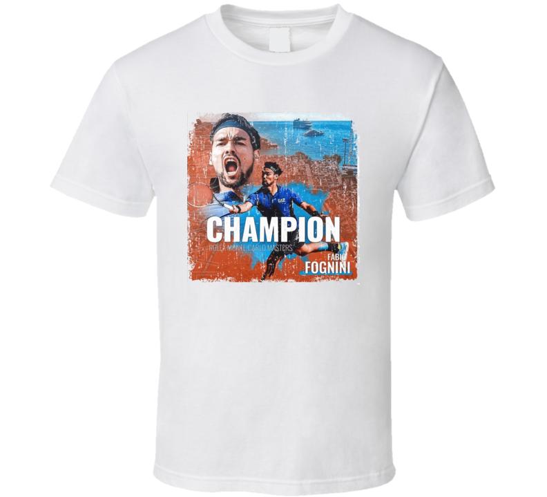 Fabio Fognini Monte Carlo Monaco Champion Italy Tennis Fan T Shirt