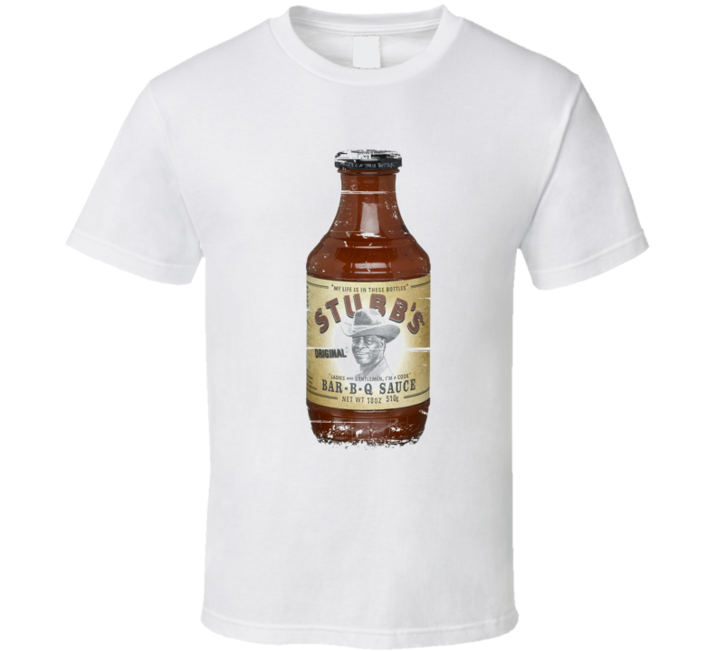 Stubb's Barbecue BBQ Distressed Weathered Look T Shirt