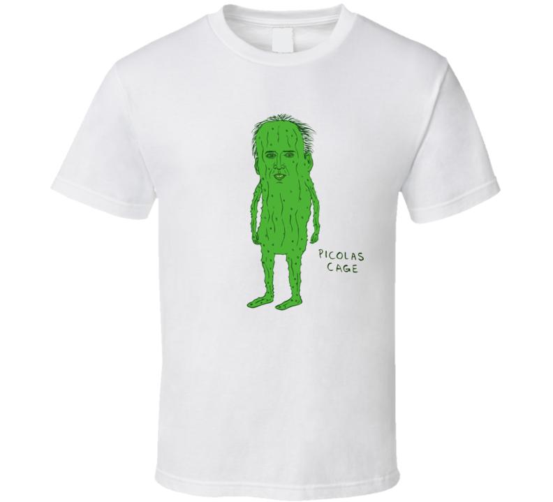 Picolas Cage Nicolas Pickle Cartoon Funny T Shirt