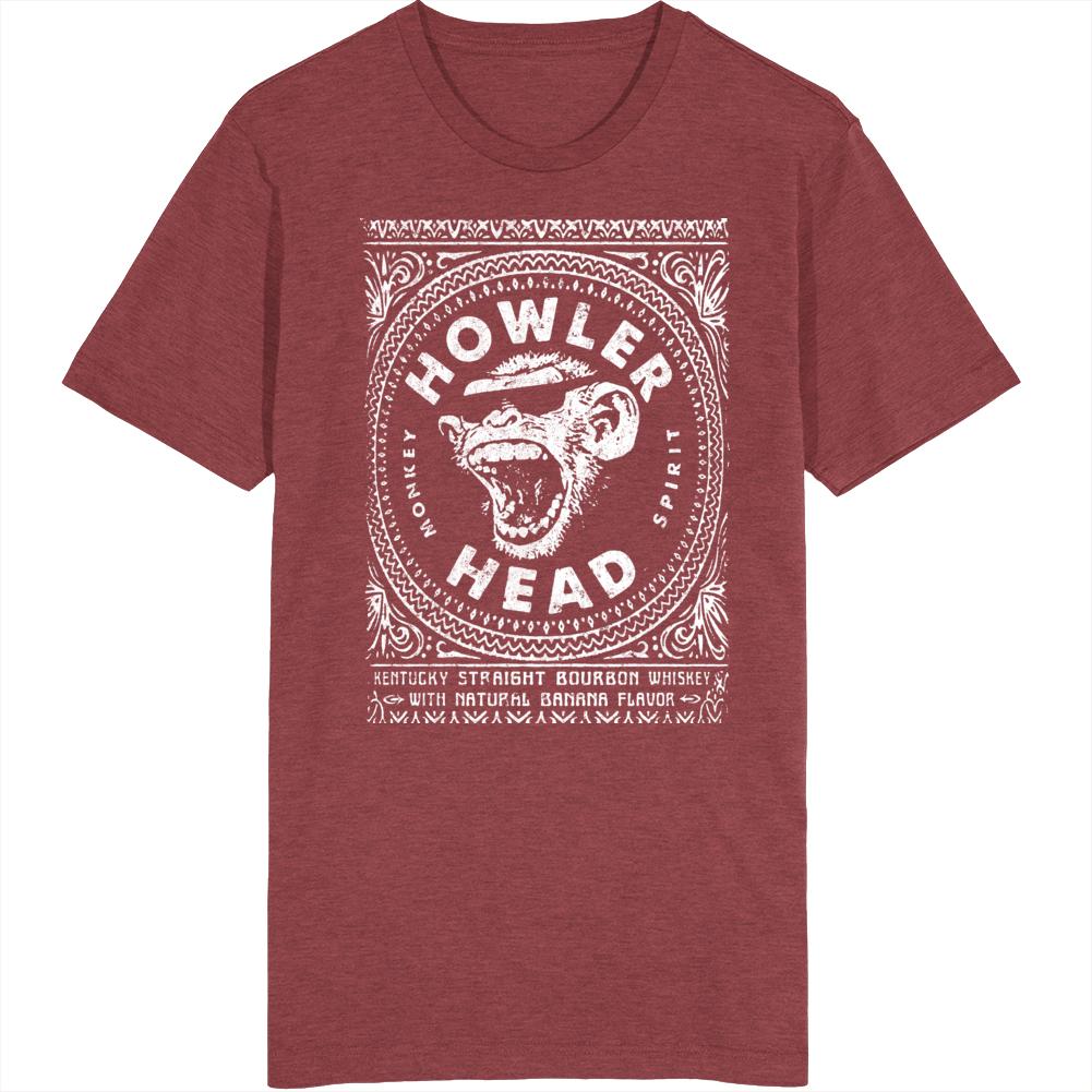 Howler Head Monkey Spirit Kentucky Straight Bourbon Logo T Shirt