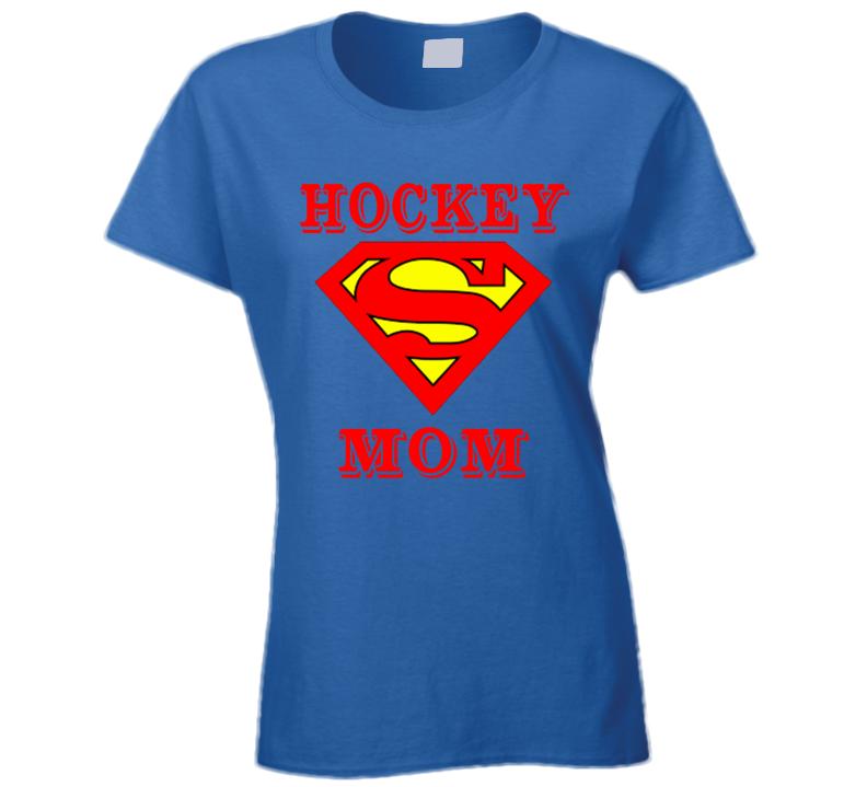 Hockey Mom Trending Funny Supermom Superman Logo T Shirts.png T Shirt