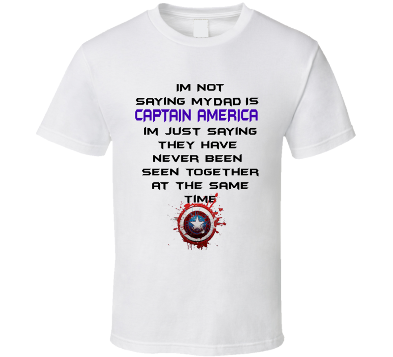 Fathers Day Gift Ideas Superhero Captain America Reference T Shirt
