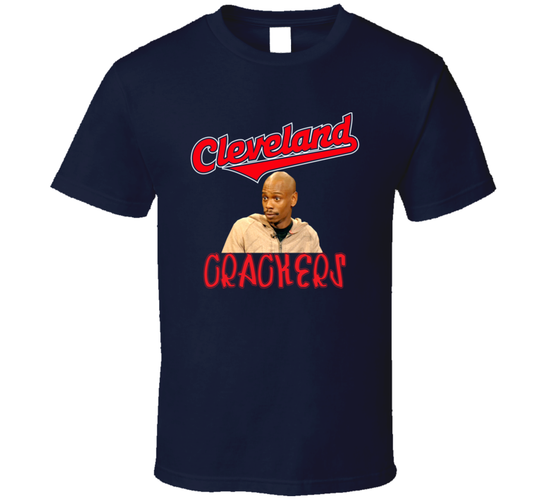 Cleavland Funny Parody Baseball Caucasians Chapelle Crackers T Shirt.png