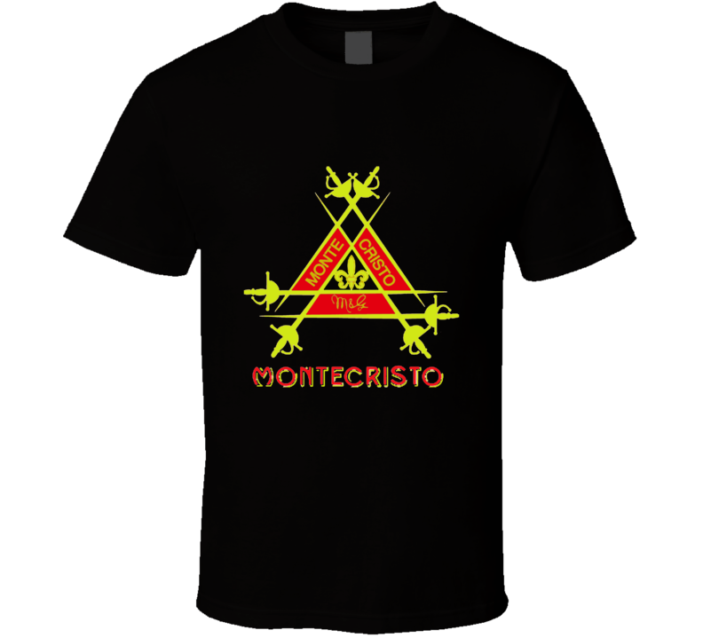 Cuban Cigar Tobacco Montecristo Havana Smoke Logo Label T Shirt.png