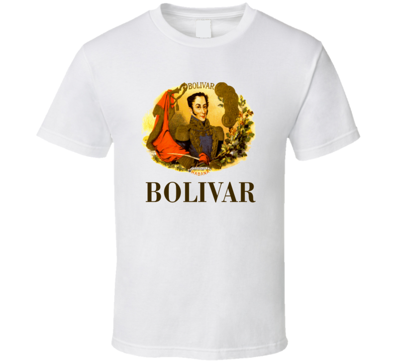 Cuban Cigar Tobacco Bolivar Havana Habanos Popular Smoke Logo Label T Shirt.png
