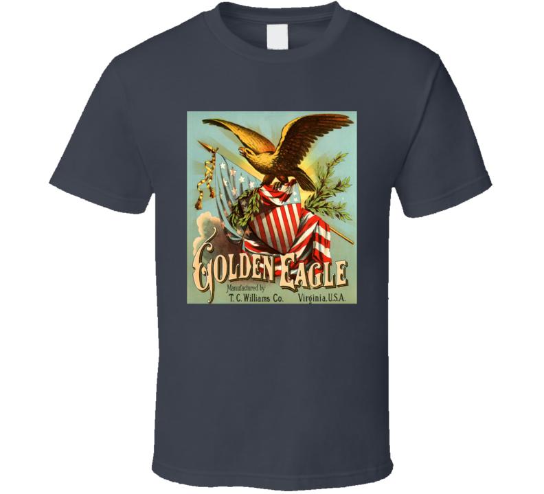 Vintage Cuban Cigar Golden Eagle Havana Tobacco Label T Shirt