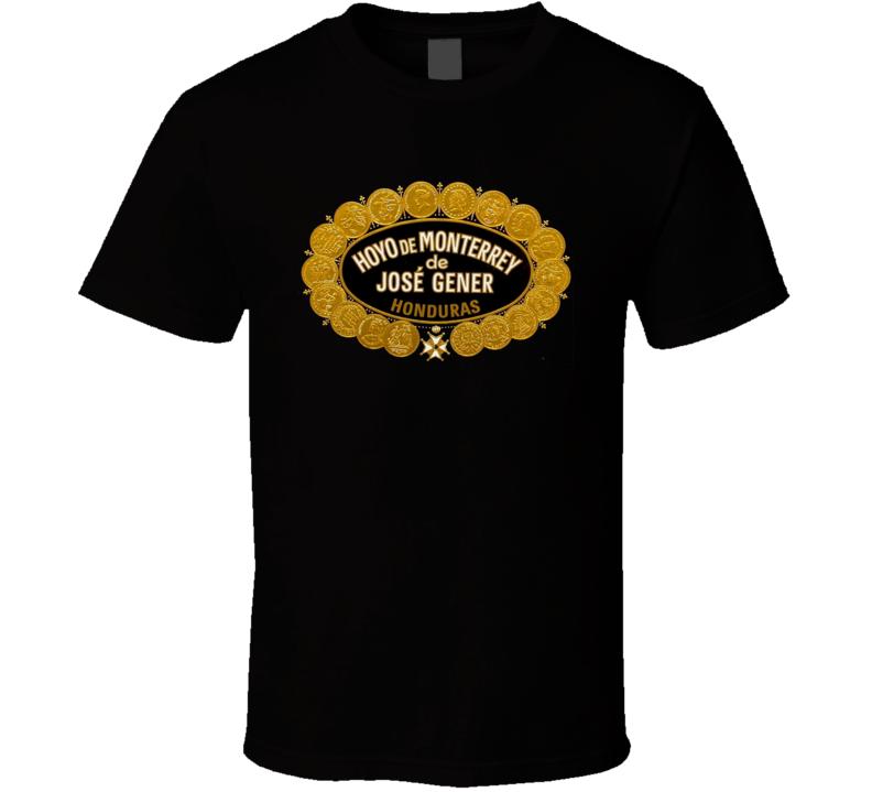 Cuban Cigar Hoyo De Monterrey Tobacco  Havana Habanos Popular Smoke Logo Label T Shirt