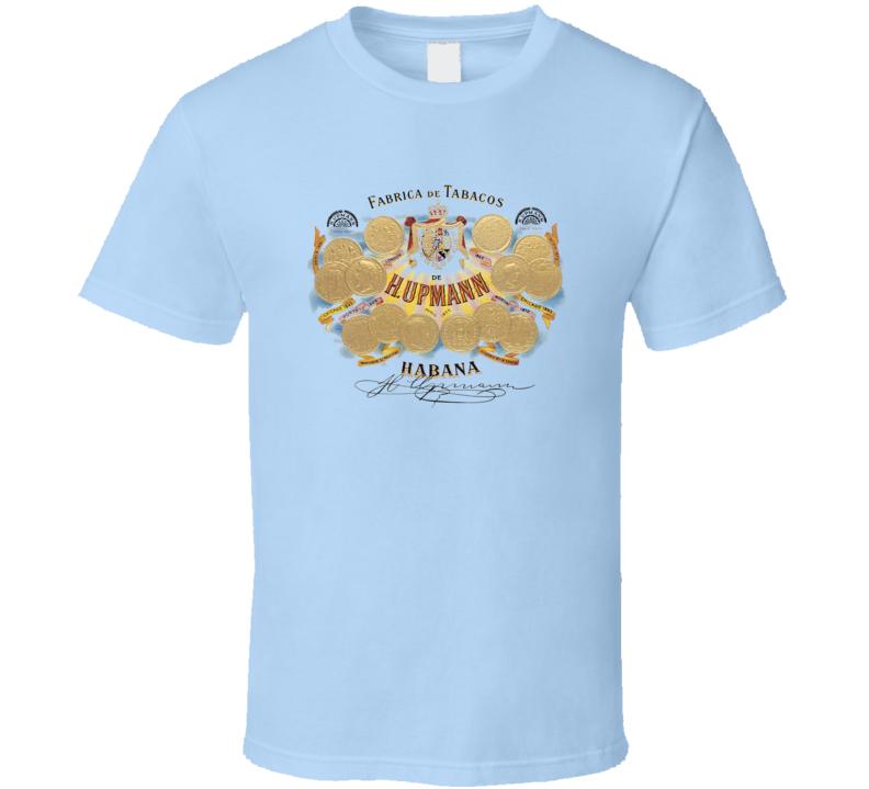 Cuban Cigar H Upmann Tobacco  Havana Habanos Popular Smoke Logo Label T Shirt