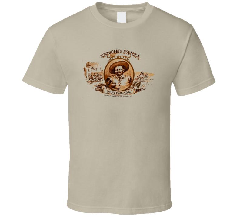 Cuban Cigar Sanch Panza Tobacco  Havana Habanos Popular Smoke Logo Label T Shirt
