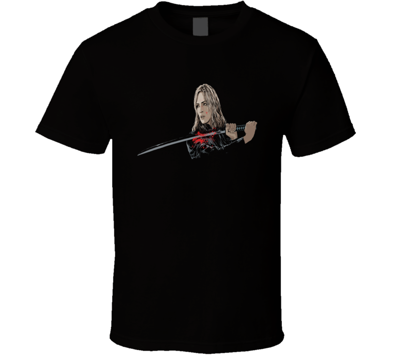 Kill Bill Quintan Terantino Classic Movie Sword T Shirt