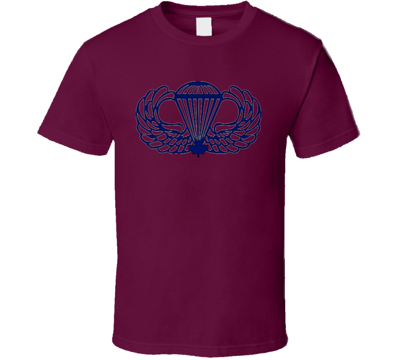 Canadian  Armed Forces Airbourne Army Soldiers Veterans Logo T Shirt