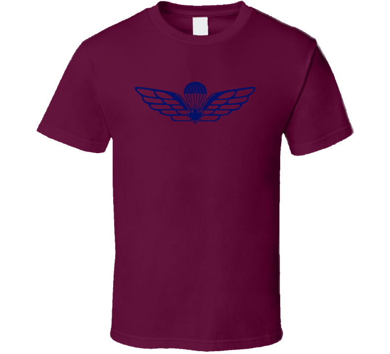 Canadiam Armed Forces Airbourne Army Wings Soldiers Veterans Logo T Shirt