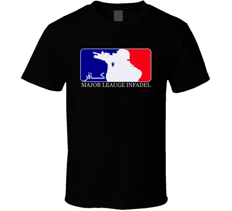 Major Leauge Infadel Military Leauge Baseball Parody Funny Sniper T Shirt