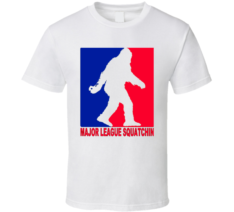 Major Leauge Big Foot Sasquatch  Funny Mlb Parody Baseball Trending  Funny T Shirt