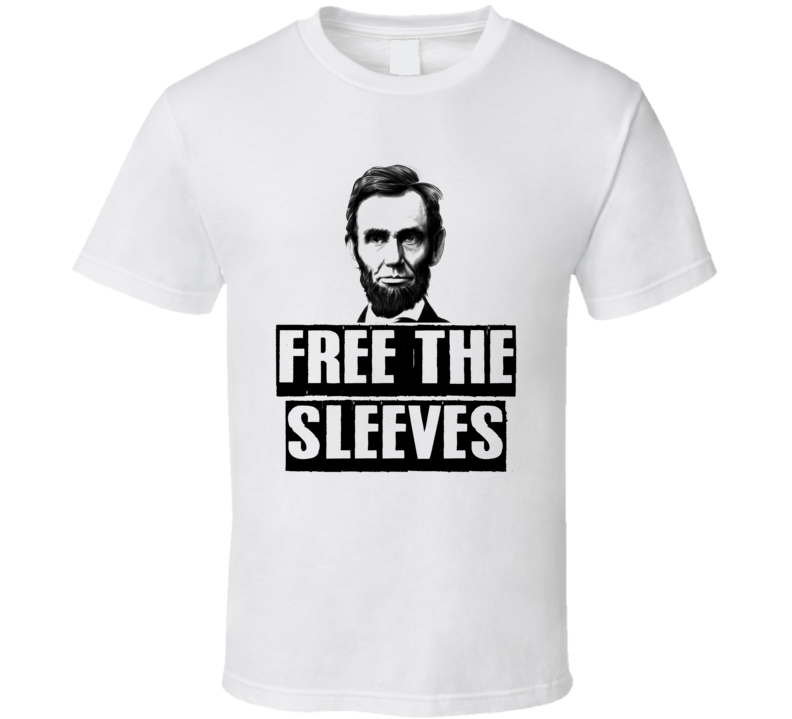Free The Slaves Sleeves Parody Funny Workout Muscle Gym Tanktop T Shirt