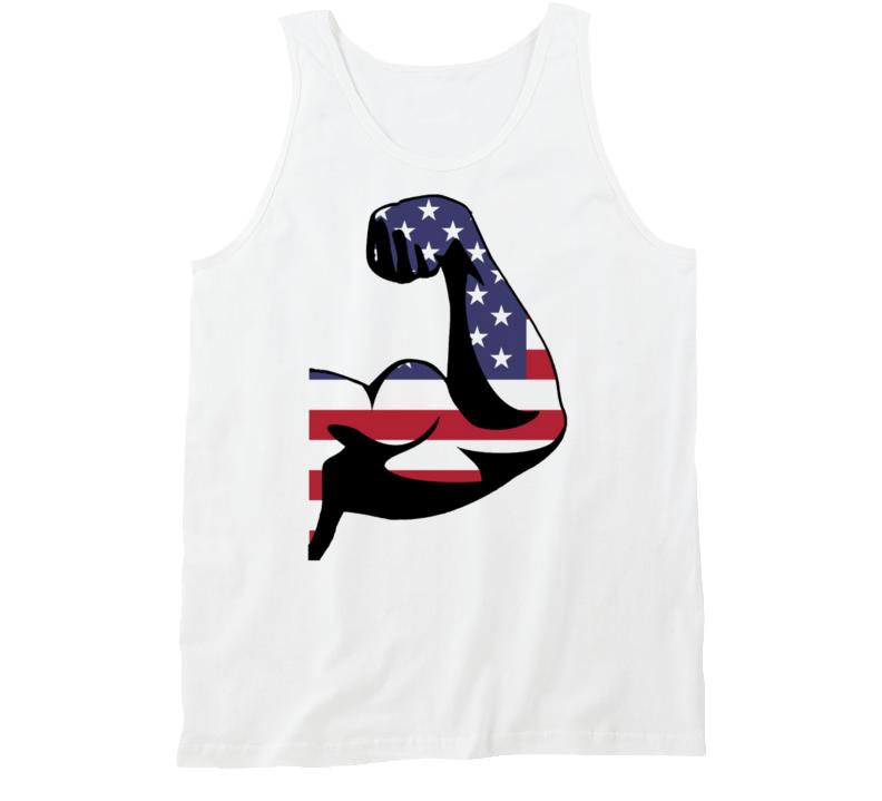 American Muscle Biceps Gains Flex Gym Workout Guns Tank Top
