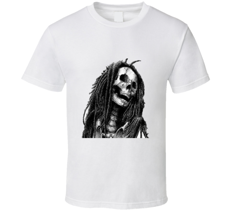 Rasta Skull T Shirt