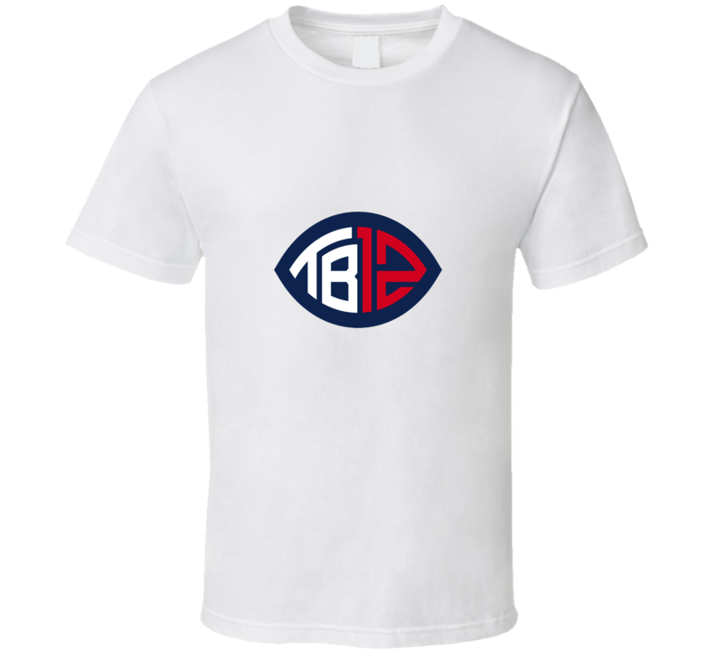 Tom Brady Patriots white Tshirt