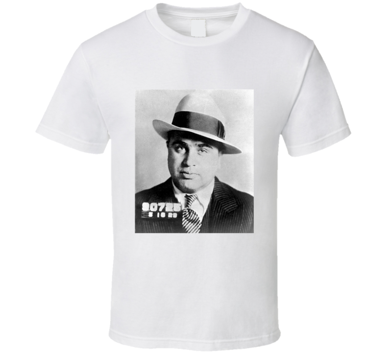 Al Capone Mugshot Tshirt (all styles and colors available)