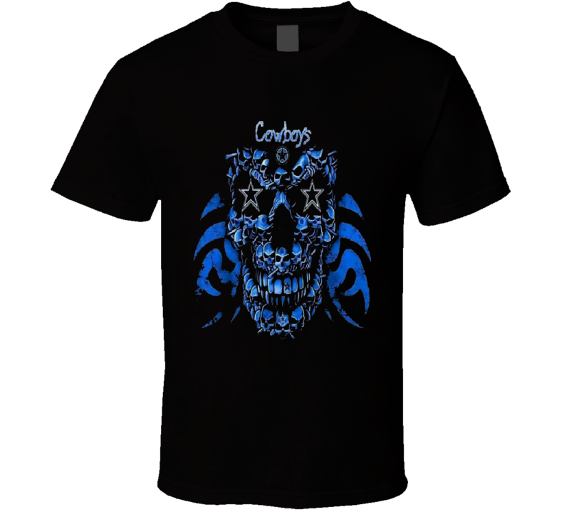 Dallas Cowboys Skull Nfl Tshirt