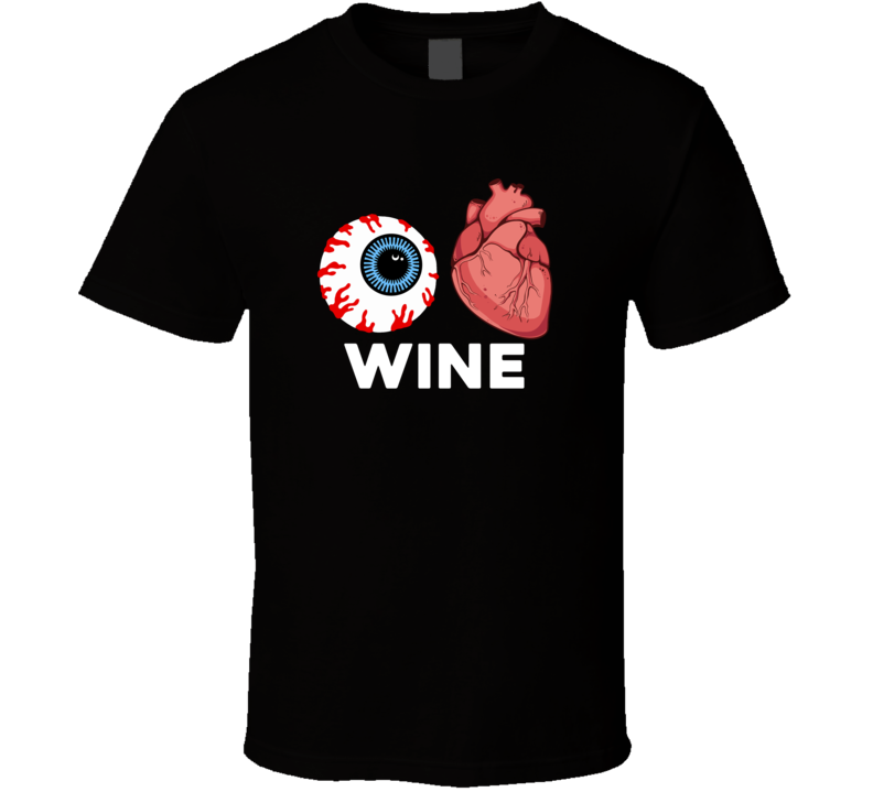 I Love Wine Halloween Tshirt (all Colors And Styles Available)
