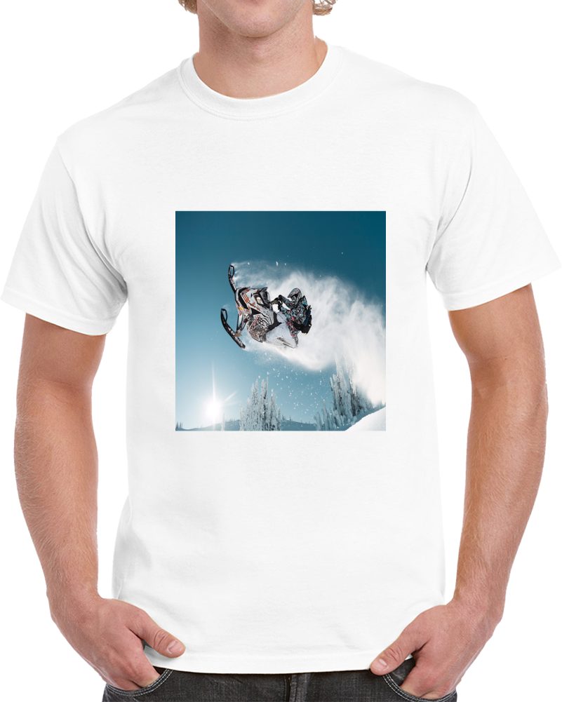 Ski Doo Snowmobile Jump Tshirt (all Styles And Colors Available)
