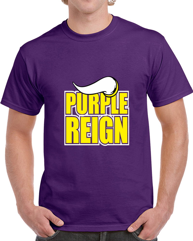 Purple Reign Minnesota Footbal Tshirt (all Styles And Colors Available)