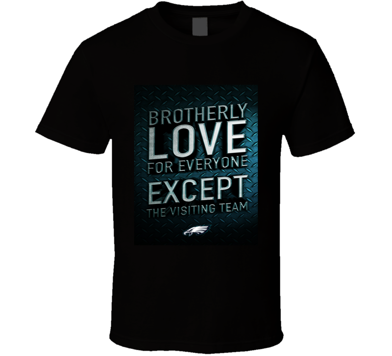 Brotherly Love Philadelphia Football Tshirt (all Colors And Styles Available)