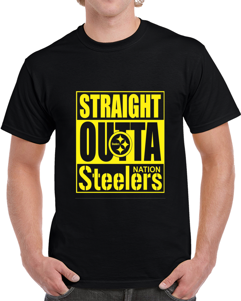 Straight Outta Pittsburgh Football Team Nation Tshirt (all Styles And Colors Available)