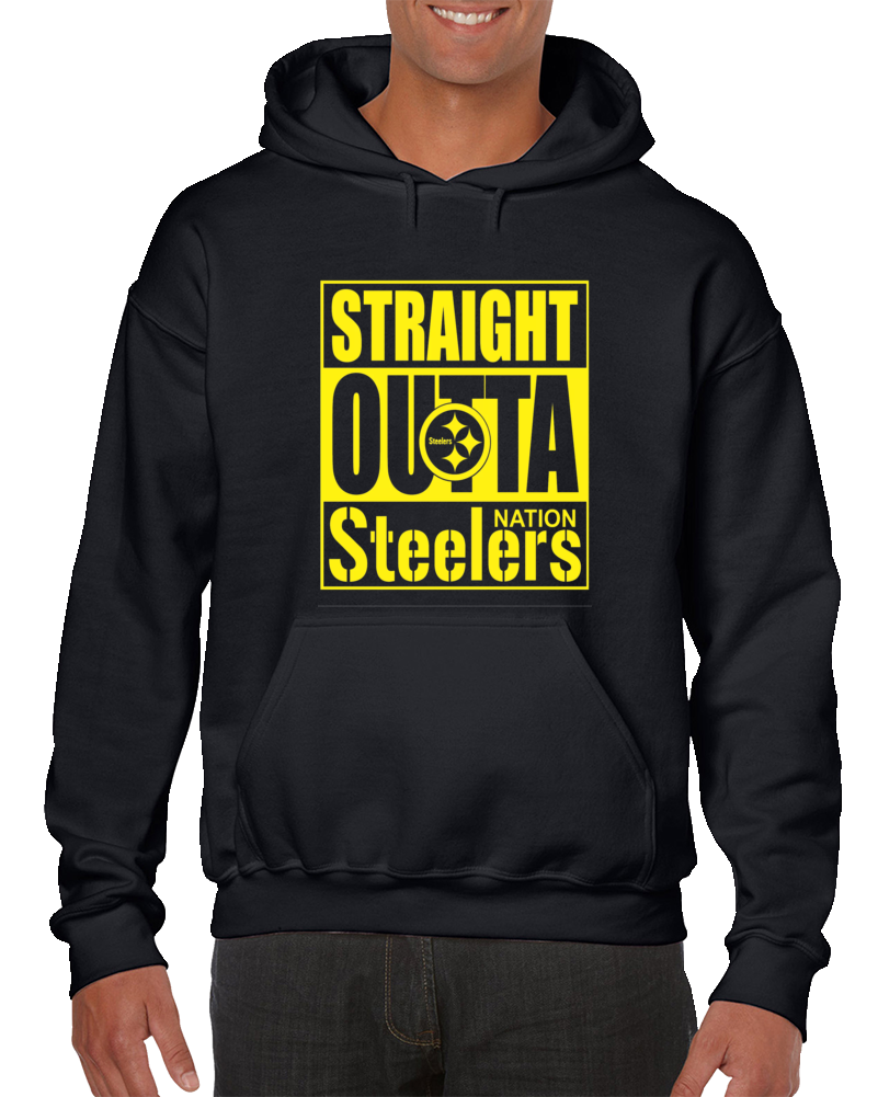 Straight Outta Pittsburgh Football Nation Hoodie