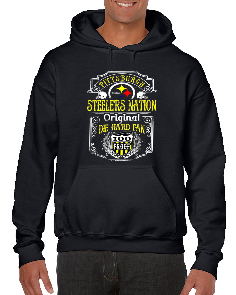 Vintage Pittsburgh Football Nation Team Hoodie