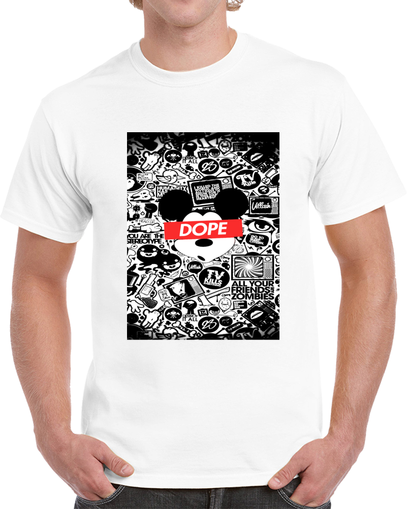 Dope Mickey Tshirt (all Colors And Styles Available)