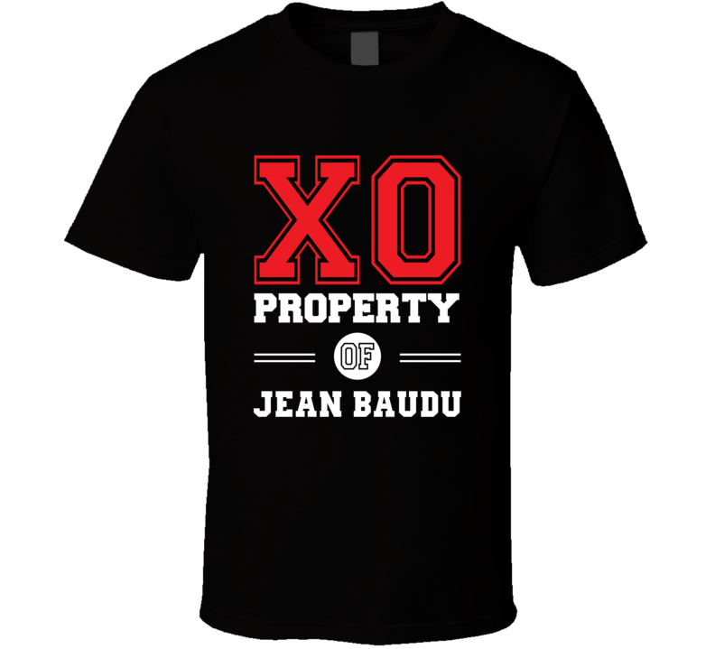 Property of Jean Baudu Popular Novel Character T Shirt