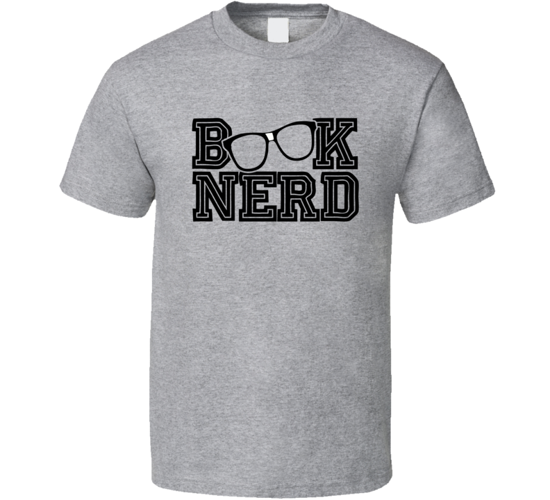 Book Nerd Glasses Reading Geek T Shirt