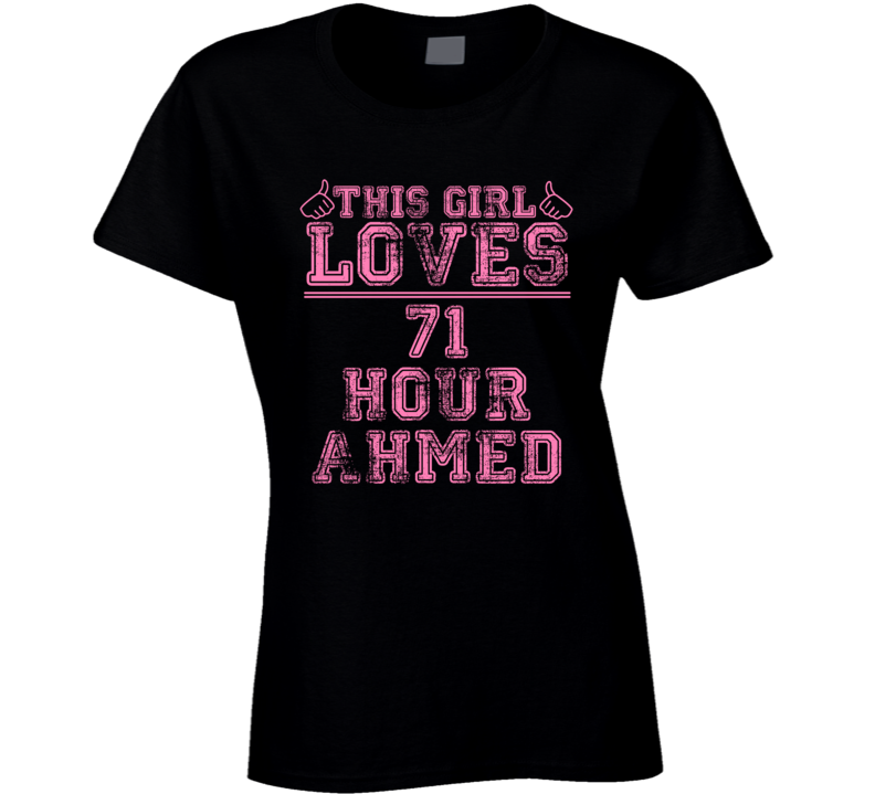 This Girl Loves 71 Hour Ahmed Jingo Favorite Novel Character Book Cool Fan T Shirt