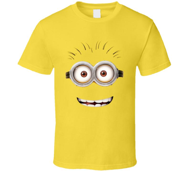 Minion Face Fun Movie Character Halloween Costume T Shirt