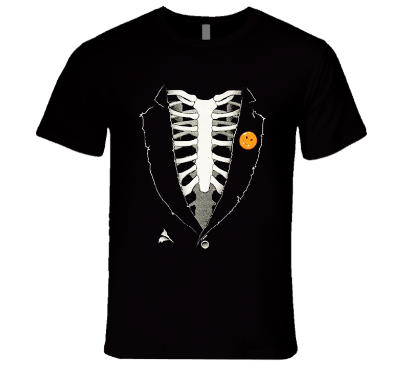 Skeleton Torso Suit Fun Halloween Costume T Shirt